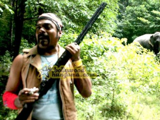 Movie Still From The Film Agyaat Featuring Ravi Kale