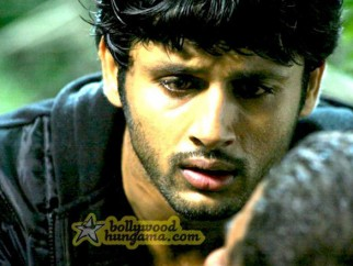 Movie Still From The Film Agyaat Featuring Nitin Reddy