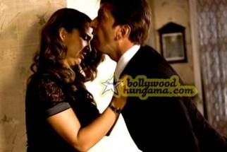 Movie Still From The Film Daddy Cool Featuring Kim Sharma,Javed Jaffrey