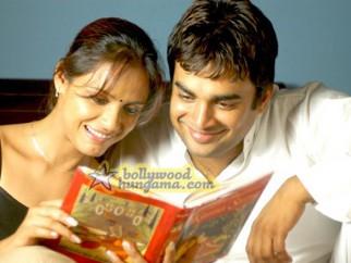 Movie Still From The Film 13B Featuring Neetu Chra,Madhavan