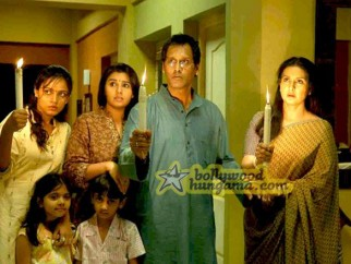 Movie Still From The Film 13B Featuring Neetu Chra,Poonam Dhillion