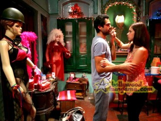 Movie Still From The Film Dev D Featuring Abhay Deol,Kalki Kocchlin