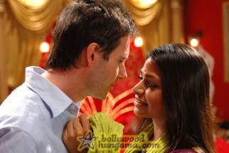 Movie Still From The Film Outsourced Featuring Josh Hamilton,Ayesha Dharker