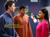 Movie Still From The Film Outsourced Featuring Josh Hamilton,Asif Basra,Ayesha Dhar