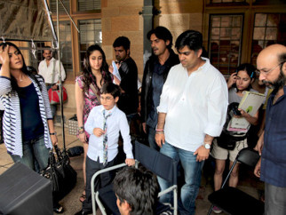 On The Sets Of The Film We Are Family Featuring Arjun Rampal,Kajol,Kareena Kapoor,Aanchal Munjal,Nominath Ginsburg,Diya Sonecha
