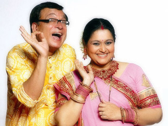 Movie Still From The Film Khichdi - The Movie,Rajeev Mehta,Supriya Pathak