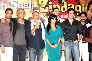 Photo Of Irrfan Khan,Sudhir Mishra,Prakash Jha,Chitrangda Singh,Vipul Gupta,Arunoday Singh,Yashpal Sharma From The Chitrangda at Prakash Jha's film 'Yeh Saali Zindagi' film launch