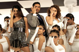 Movie Still From The Film Game,Sarah Jane Dias,Abhishek Bachchan,Kangna Ranaut