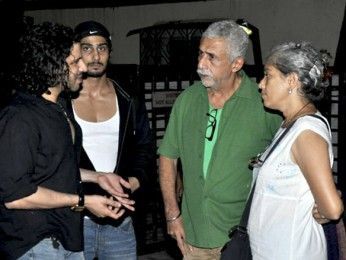 Photo Of Faruk Kabir,Prateik Babbar,Naseruddin Shah,Ratna Pathak From The Naseruddin Shah and Prateik Babbar watch 'Allah Ke Banday'