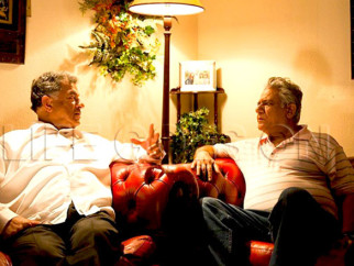 Movie Still From The Film Life Goes On,Om Puri,Girish Karnad