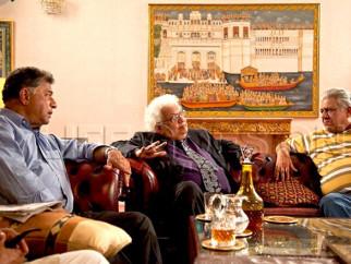 Movie Still From The Film Life Goes On,Girish Karnad,Om Puri