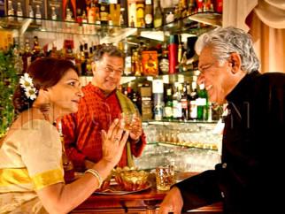 Movie Still From The Film Life Goes On,Sharmila Tagore,Girish Karnad,Om Puri