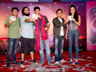 Photo Of Bumpy,Taaha Shah,Ram Sampat,Shraddha Kapoor From The Audio release of 'Luv Ka The End'