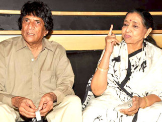 Photo Of Chandra Barot,Asha Bhosle From The Asha Bhosle records a song for the film 'Neil Ko Pakadna'