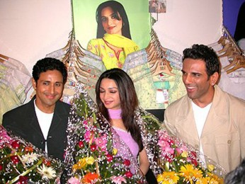 Photo Of Parvin Dabbas,Neha Dubey,Sanjay Singh From The Audio Launch Of The Perfect Husband
