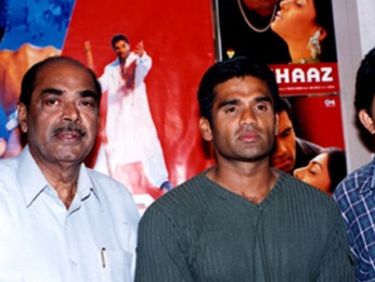 Photo Of D.Rama Naidu,Suniel Shetty From The Audio Release Of Aaghaaz