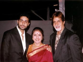 Photo Of Abhishek Bachchan,Revathi,Amitabh Bachchan From The Audio Release Of Dil Jo Bhi Kahey