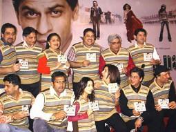 Photo Of Bindu,Satish Shah,Javed Akhtar,Sajid Khan,Suniel Shetty,Amrita Rao,Shahrukh Khan,Zayed Khan,Anu Malik  From The Audio Release Of Main Hoon Na