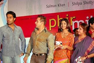 Photo Of Abhishek Bachchan,Salman Khan,Shilpa Shetty From The Audio Release Of Phir Milenge