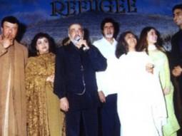 Photo Of Anu Malik,J.P Dutta,Amitabh Bachchan,Jaya Bachchan,Kareena Kapoor,Abhishek Bachchan From The Audio Release Of Refugee