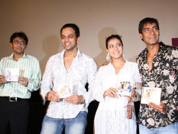 Photo Of Dhillin Mehta,Rohit Shetty,Kajol,Ajay Devgn From The Audio Release Of Golmal