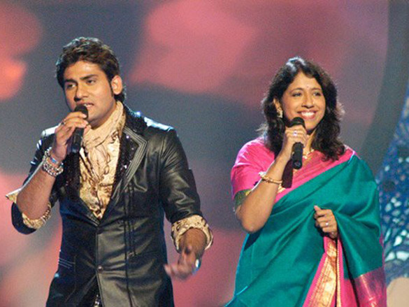 Photo Of Harshit,Kavita Krishnamurthy From The John-Bipasha On Star Voice Of India