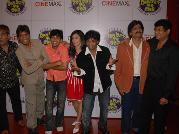 Photo Of Parag Kansara,Raju Shrivastava,Deepak Raja,Sunil Pal From The Premiere Of Bombay To Goa