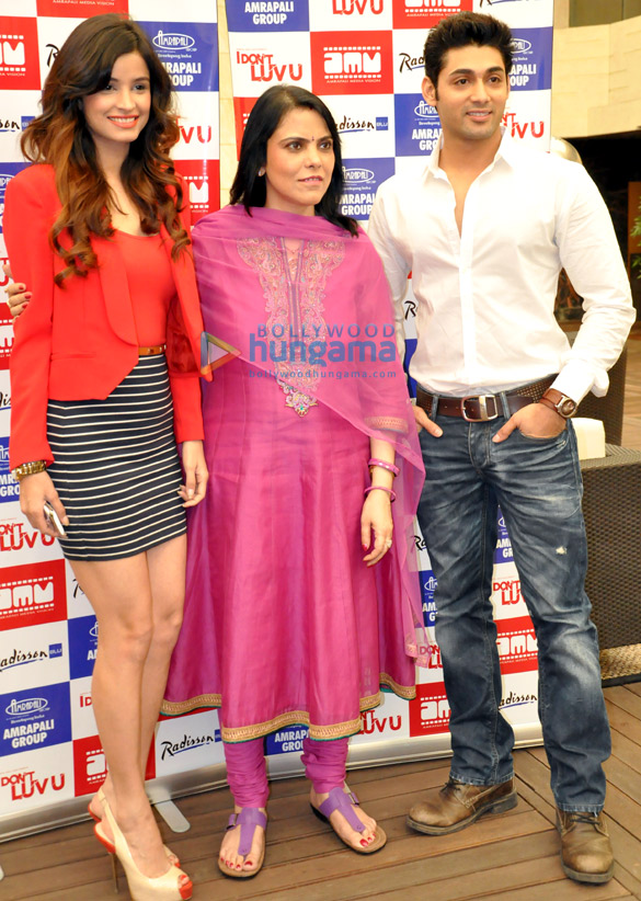 Ruslaan & Chetna promote their film 'I Don't Luv U' in Ghaziabad