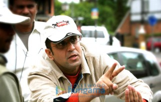 On The Sets Still From The Film Strangers Featuring Anand L Rai