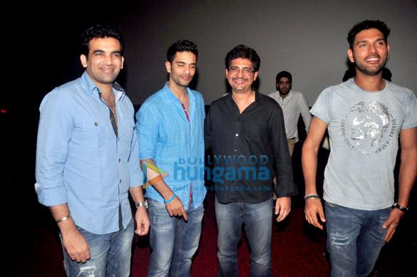 Yuvraj Singh & Zaheer Khan at 'Ungli' screening