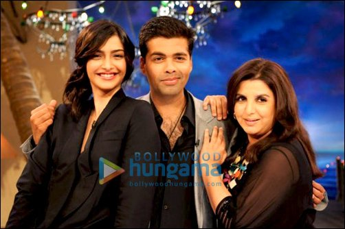 Sonam Kapoor and Karan Johar on Farah Khan's 'Tere Mere Beach Mein'