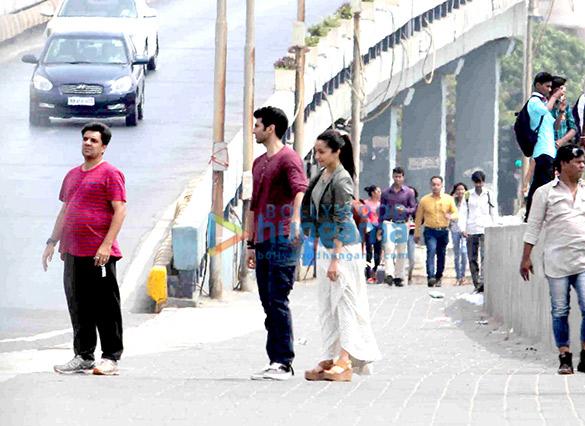 Aditya Roy Kapur & Shraddha Kapoor snapped shooting for 'Ok Jaanu' at Marine Drive