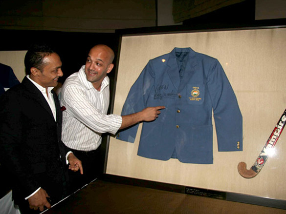 Rahul Bose at 'Equation', a sports memorabilia auction