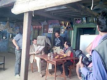 On The Sets Of The Film Phas Gaye Re Obama Featuring Rajat Kapoor,Neha Dhupia,Amol Gupte,Amit Sial,Sanjay Mishra,Manu Rishi,Brijendra Kala,Sumeet Nijhawan,Surendra Rajan,Pragati Pandey,Devender Chaudhary,Vivake,Avantica