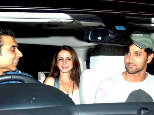 Suzanne and Hrithik snapped on occasion of her birthday
