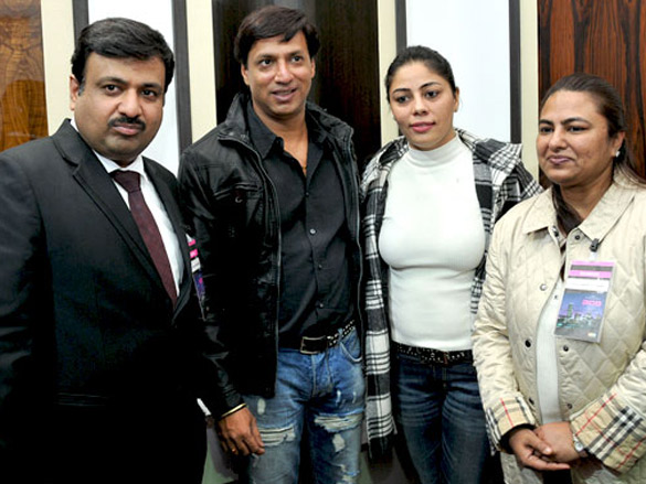 Renu and Madhur Bhandarkar at the exhibition of Sonear Studio