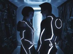 Movie Still From The Film Tron: Legacy,Olivia Wilde,Garrett Hedlund