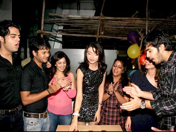 Shama Sikander at TV actor Parull Chaudhry's birthday bash