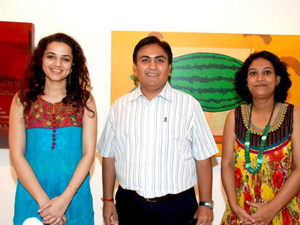 Dilip Joshi at Bi-Scope exhibition by Maushmi Ganguly and Arpan Sidhu