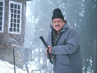 Movie Still From The Film Teen Thay Bhai,Om Puri