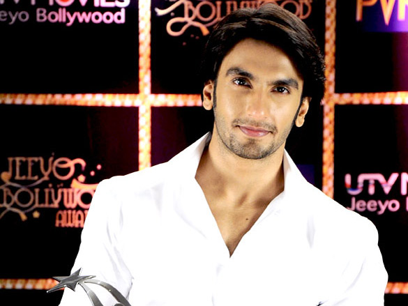 Ranveer and Vikramaditya Motwane at Jeeyo Bollywood Awards