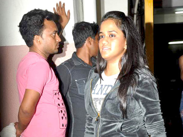 Salman and Sonakshi at Fast Five screening