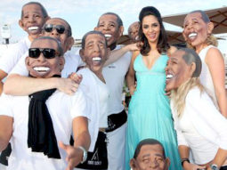 On The Sets Of The Film Love, Barack Featuring Mallika Sherawat,Laz Alonso