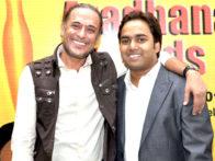 Photo Of Tochi Raina,Vishal Sharma From The 18th Sur Aradhana Awards held at Shri Fort Auditorium