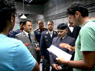 On The Sets Of The Film Gandhi To Hitler Featuring Neha Dhupia,Raghuveer Yadav,Aman Verma,Lucky Vakharia,Nassar Abdulla,Avijit Dutt,Nikita Anand,Nalin Singh