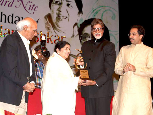 Big B at Lata Mangeshkar's birthday concert