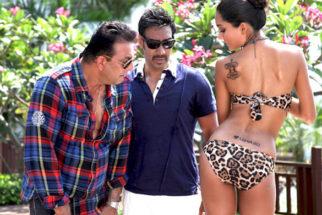 Movie Still From The Film Rascals,Sanjay Dutt,Ajay Devgn,Lisa Haydon