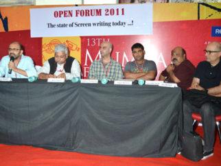 Photo Of Vinay Shukla,Atul Tiwari,Abbas Tyrewala,Sagar Ballary,Saurabh Shukla,Dev Benegal From The 13th Mumbai Film Festival - Day 7