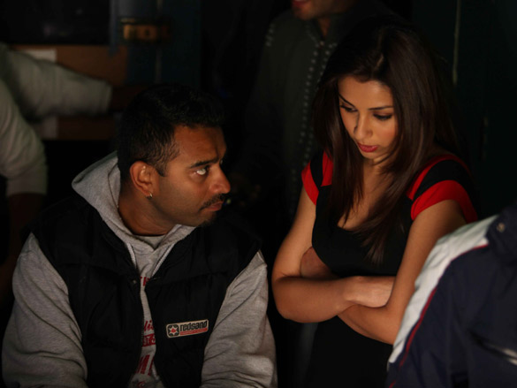 On The Sets Of The Film Blood Money Featuring Vishal Mahadkar,Amrita Puri