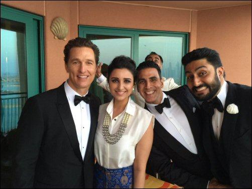 When Akshay, Abhishek and Parineeti met Salma Hayek and Matthew McConaughey